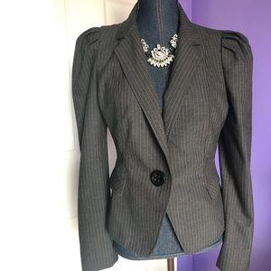 Express pink pin striped puff sleeve blazer Sz 10